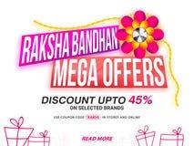 Raksha Bandhan Mega Offers Sale Banner. Royalty Free Stock Image
