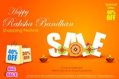 Raksha bandhan shopping Sale Royalty Free Stock Photo