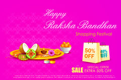 Raksha bandhan shopping Sale Royalty Free Stock Photo