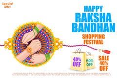 Raksha bandhan shopping Sale Stock Image