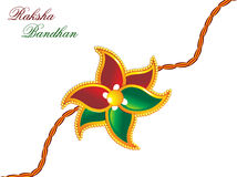 Raksha bandhan theme rakhi. Vector illustration Stock Photography