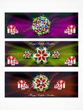 Raksha bandhan web banner background. Vector illustration Stock Photography