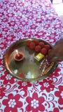Rakshabandhan festiwal brat i siostra fotografia stock