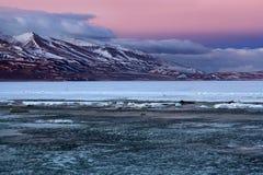Rakshas Tal湖在西藏 库存图片