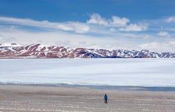 Rakshas Tal i västra Tibet, Kina Arkivfoto