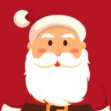 Rakt framifrån jul Santa Red Arkivfoton