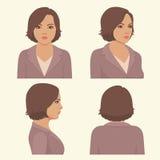Rakt framifrån och profilhuvud Arkivbilder
