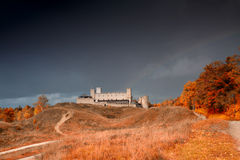 Rakvere mystical medieval castle in autumn Royalty Free Stock Photo
