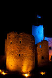 Rakvere stronghold tower at night Royalty Free Stock Photo