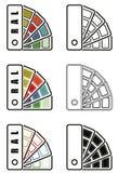 Ral barwi sampler ikonę Zdjęcia Royalty Free
