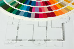 RAL color spectrum in drawing Royalty Free Stock Photography