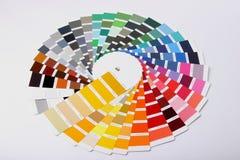 Ral-Farben auf weißem Hintergrund Stockbild