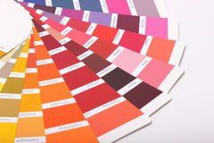 Ral-Farben auf weißem Hintergrund lizenzfreies stockfoto