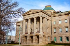 NC Capital Building Raleigh, North Carolina. Raleigh is the capital of the state of North Carolina and the seat of Wake County in the United States. Raleigh is royalty free stock images