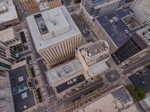 Raleigh de stad in bij schemer Royalty-vrije Stock Foto