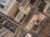 Raleigh de stad in bij zonsondergang Royalty-vrije Stock Fotografie