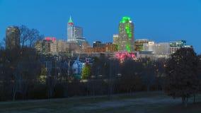 Raleigh do centro, NC EUA Fotografia de Stock Royalty Free
