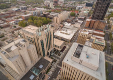 Raleigh downtown in March. Royalty Free Stock Photo