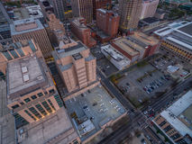 Raleigh downtown at sunset in March. Stock Images