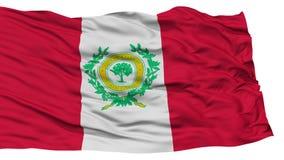 Raleigh Flag d'isolement, ondulant sur le fond blanc Photos stock