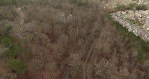 Raleigh flyg- sikt för NC-surr av förort av Raleigh stock video