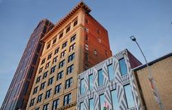 Raleigh-gebouwen de van de binnenstad stock afbeeldingen