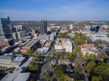 Raleigh i stadens centrum 3/2016 Arkivfoton