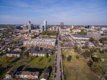 Raleigh i stadens centrum 3/2016 royaltyfria bilder