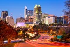 Raleigh linia horyzontu Zdjęcia Royalty Free