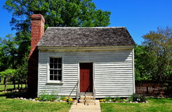 Raleigh, NC: Dependency Building at Mordecai Plantation. Raleigh, North Carolina:  Small wooden outer dependency bu8lding at historic Mordecai Plantation Stock Photos