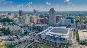 Raleigh NC-flygfotografering Arkivbild