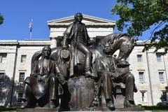 Raleigh NC: Skulptur för tre presidenter Royaltyfri Bild