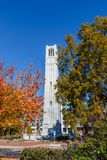 Memorial Belltower at NC State University. RALEIGH, NC, USA - NOVEMBER 24: Memorial Belltower on November 24, 2017 at North Carolina State University in Raleigh royalty free stock photos