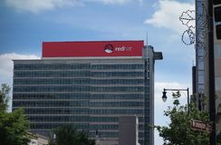 RALEIGH,NC/USA - 10-14-2015: Red Hat headquarters building in do Royalty Free Stock Photos