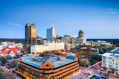 Raleigh norr Carolina Downtown Skyline Fotografering för Bildbyråer
