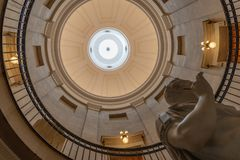 RALEIGH, NORTH CAROLINA - 07 FEB 2017: Inner dome of the State stock photography