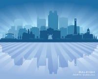 Raleigh North Carolina-het vectorsilhouet van de stadshorizon vector illustratie