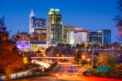 Raleigh North Carolina Skyline Fotografia Stock Libera da Diritti