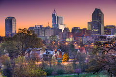 Raleigh North Carolina Skyline Stock Afbeelding