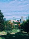 Raleigh North Carolina skyline royalty free stock photography