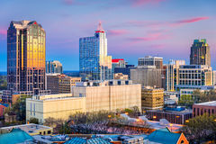 Raleigh, North Carolina, USA. Downtown city skyline royalty free stock images