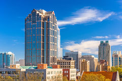 Raleigh, North Carolina, USA. Downtown city skyline Royalty Free Stock Image