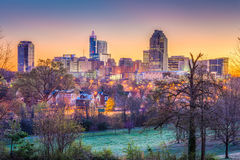 Raleigh, North Carolina, USA Skyline Stock Image