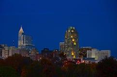Raleigh Po Zmroku Zdjęcie Stock