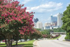Raleigh`s skyline in Summer royalty free stock photos