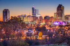 Raleigh Skyline Royalty Free Stock Images