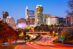 Raleigh Skyline. Raleigh, North Carolina, USA downtown city skyline Royalty Free Stock Photos