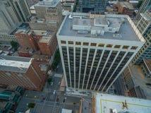 Raleigh van de binnenstad in Juni Stock Foto's