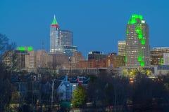 Raleigh van de binnenstad, NC de V.S. stock afbeeldingen