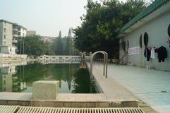 Ralenti de piscine handicapé Photos libres de droits